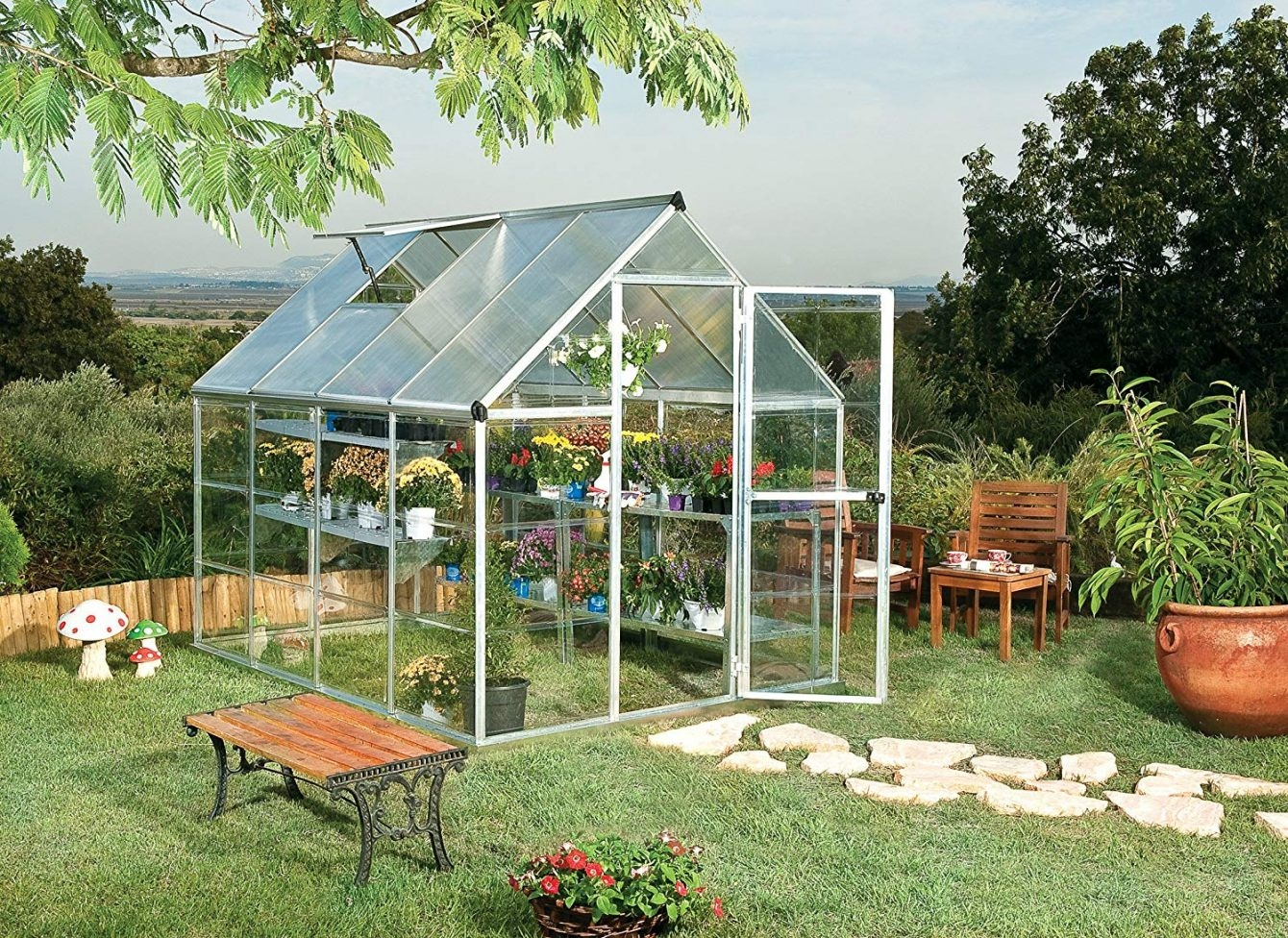 Palram hobby greenhouse for hobby gardening